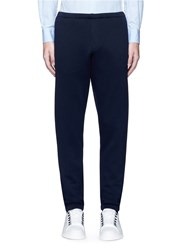 Marni Elastic Waist And Cuff Jogging Pants Blue