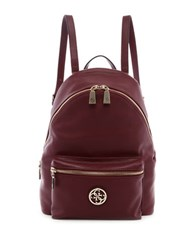 Guess Leeza Lambskin Leather Blend Backpack Bordeaux