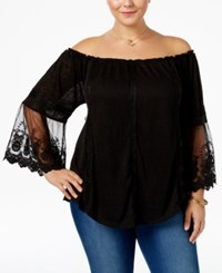 American Rag Trendy Plus Size Off The Shoulder Top Only At Macy's Classic Black