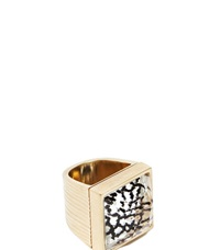 Vionnet Pale Gold Glass Ring