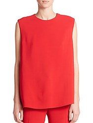 Derek Lam Belt Back Sleeveless Shell Red