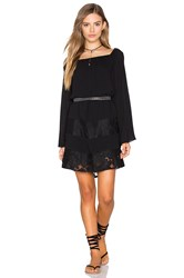 Bcbgeneration Off Shoulder Peasant Dress Black