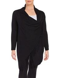 Chelsea And Theodore Plus Poncho Inspired Pullover Black