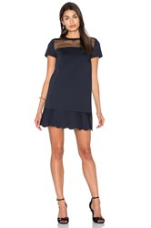 Red Valentino Swiss Dot Shift Dress Navy