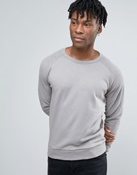 New Look Raglan Sweatshirt In Grey Grey