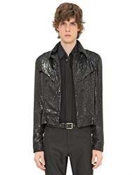 Cnc Costume National Costume National Sequined Leather Jacket
