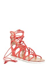 Legend Footwear Sam Lace Up Platform Sandal Orange