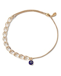Alex And Ani Precious Metals Evil Eye Heart Pull Chain Bracelet Gold Filled