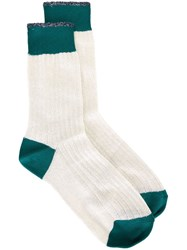 Paul Smith Glittery Socks White
