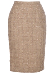 Guy Laroche Vintage Pencil Skirt Nude And Neutrals
