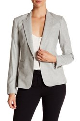 Theory Dief Feather Flannel Blazer Gray