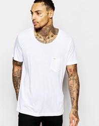 Diesel T Shirt T Kronox Loose Fit Scoop Neck In White