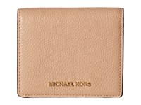 Michael Michael Kors Mercer Carryall Card Case Oyster Credit Card Wallet Beige