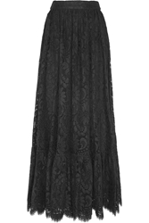 Dolce And Gabbana Cotton Blend Lace Maxi Skirt