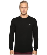 Fred Perry Classic Crew Neck Sweater Black Men's Sweater