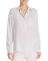 Rails Elle Striped Shirt Lilac White Stripe