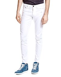 The Kooples Distressed Slim Fit Jeans In White
