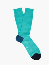 Paul Smith Turquoise Cotton Socks