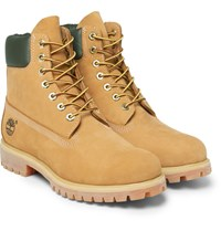 Timberland Premium Waterproof Leather Trimmed Nubuck Boots Beige