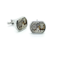 Lc Collection Vintage Watch Movement Cufflinks Silver