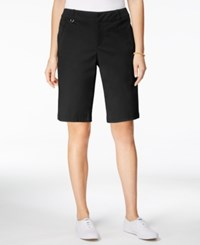 Charter Club Embellished Bermuda Shorts Only At Macy's Deep Black