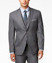 Alfani Red Traveler Men's Grey Solid Slim Fit Suit Jacket Only At Macy's