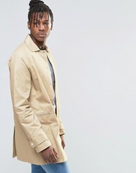 Native Youth Washed Cotton Mac Jacket Tan