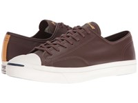 Converse Jack Purcell Ltt Ox Leather Pack Chocolate Leather Athletic Shoes Brown