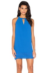 Greylin Melissa Laser Cut Shift Dress Blue