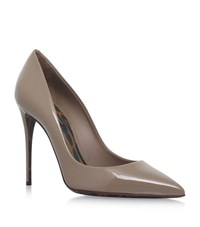 Dolce And Gabbana Marianna Patent Pumps 105 Female Taupe