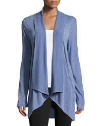Marc Ny Performance Slub Jersey Open Front Cardigan Denim