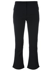 Rossignol Cropped Flared Trousers Black