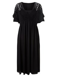 East Macrame Dress Black