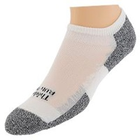 Thorlos Lite Running Micro Mini 3 Pair Pack White Black Women's No Show Socks Shoes
