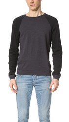 Rag And Bone Standard Issue Long Sleeve Colorblock Raglan Tee Navy