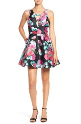 Dear Moon Women's Floral Print Fit And Flare Dress