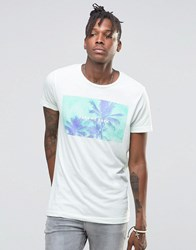Pull And Bear Pullandbear T Shirt With Take Me Back Palm Tree Print In Blue Blue