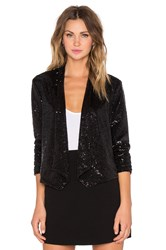 Bb Dakota Christel Sequin Blazer Black
