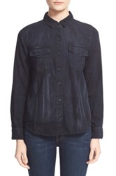 Current Elliott 'The Desert Western' Denim Shirt Gray