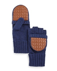 Lauren Ralph Lauren Quilted Pop Top Gloves Denim