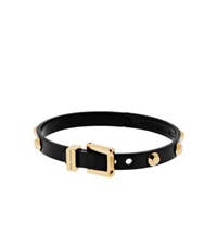 Michael Kors Astor Studded Black And Gold Tone Buckle Bangle Two Tone