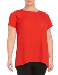 Vince Camuto Plus Hi Lo Tunic Red