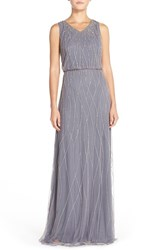 Women's Candela 'Antibes' Beaded V Neck Gown Nordstrom Exclusive