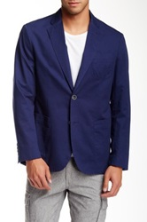 Jack Victor Styx Solid Two Button Notch Lapel Sports Jacket Blue