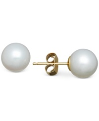 Honora Style Cultured Freshwater Pearl Stud Earrings In 14K Gold