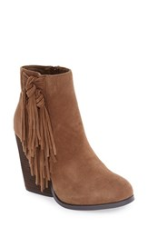 Very Volatile Women's 'Dreamcatch' Fringe Bootie Light Brown Suede