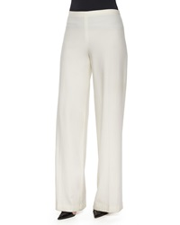 The Row Rista Side Zip Wide Leg Pants Bright White
