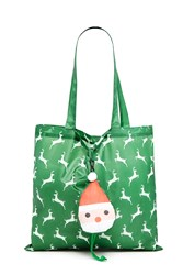 Forever 21 Reindeer Pop Out Tote Bag Green Multi