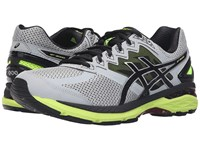 Asics Gt 2000 4 Mid Grey Black Safety Yellow Men's Running Shoes Gray