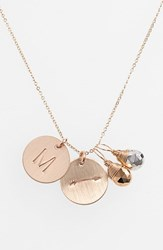 Women's Nashelle Pyrite Initial And Arrow 14K Gold Fill Disc Necklace Gold Pyrite Silver Pyrite M
